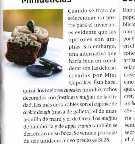 Miss Cupcakes en Semana Económica