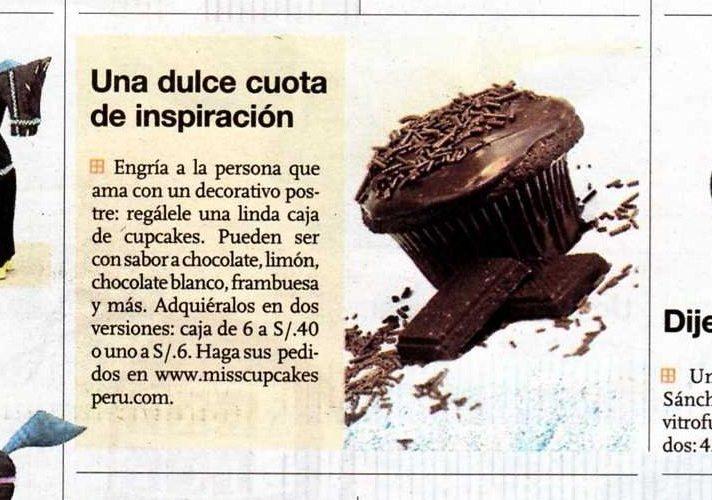 Cupcake de chocolate para El Comercio