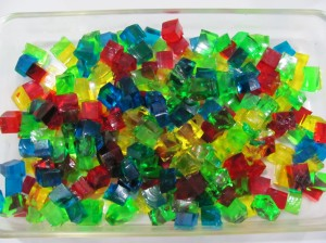 cubos de gelatina