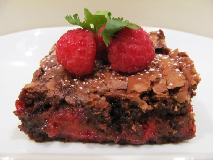 Fudge Brownie con Frambuesas